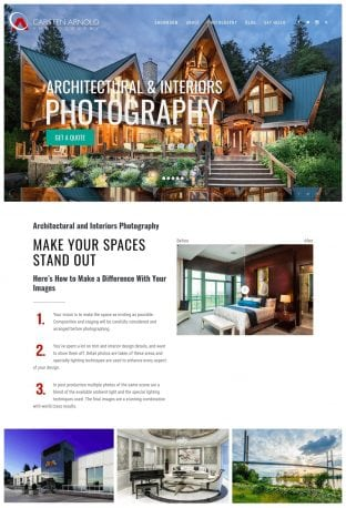 Photography Website Design Chilliwack